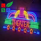 Metal Frame Commercial Neon Coffee Sign Square Shape Neon Sign