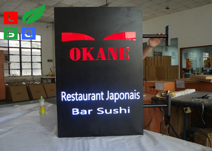 Custom Made LED Illuminated Sign Box , Outdoor Decoration LED Slim Panel Light Box