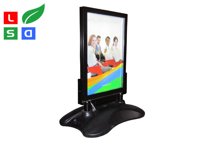 Outdoor LED Poster Display Stand Rechargeable Battery With 8 - 12 Hours Power Supporting