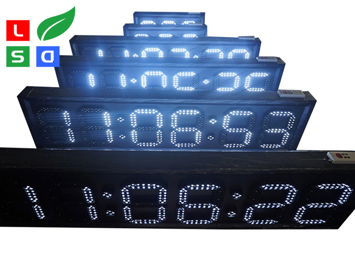 Outdoor White / Red LED Countdown Digit Sign Board With RF Remote Control