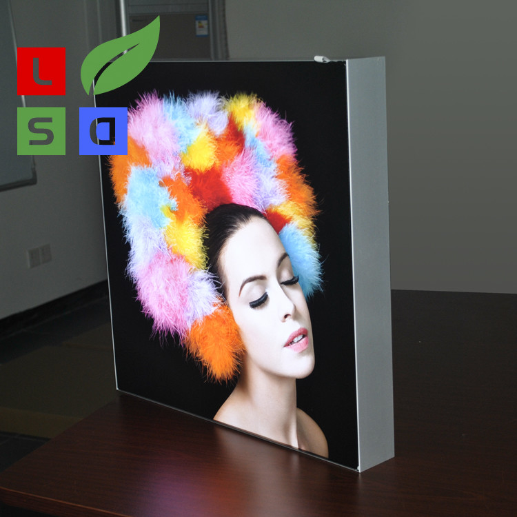 Wall Mounting LED Fabric Light Box Single Side Frameless For LED Shop Display
