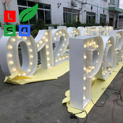 Wedding Using LED Marquee Letter Vintage Light Bulb Letter Sign